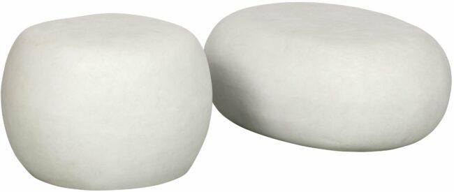 Afbeelding van VT Wonen Pebble bijzettafel betonlook wit 31x65x49