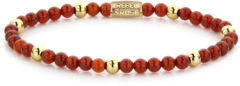 Rebel & Rose Rebel and Rose RR-40044-G Rekarmband Beads Amazing Grace rood-goudkleurig 4 mm S 16,5 cm