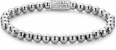 Rebel & Rose Rebel and Rose RR-60020-S Rekarmband Beads Silver Shine zilverkleurig 6 mm L 19 cm