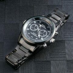 Zwarte Topsjop.nl FullHD Spy Watch. Horloge met verborgen camera, met nachtvisie. 16GB