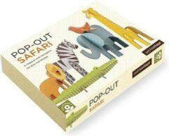 Petit Collage Pop-out 3D Woordpuzzel Safari