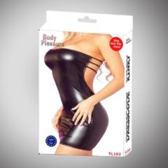 Zwarte Body pleasure - Wetlook lingerie - Sexy lingerie - Sexy Jurkje - Medium size - Party outfit - gave Cadeaubox - tl102