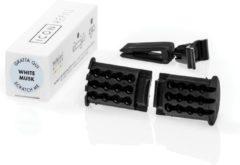 Zwarte Millefiori Milano Auto Parfum - Refill - White Musk
