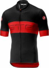 Castelli Prologo VI Jersey FZ Fietsshirt - Maat L - Mannen - Zwart/Rood