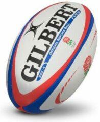 Rode Gilbert Official England Replica Rugbybal maat 4