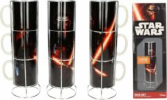 Merchandising STAR WARS 7 - Kylo Lightsable 3 Stackable Ceramic Mug