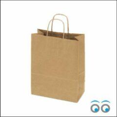 Bruine Kadoonline 50 papieren draagtassen kraft middel M (24x12x31cm)