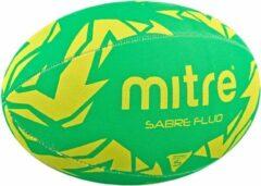 Rugbybal Mitre Sabre Fluo - Groen/Geel - Maat 5