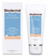 Biodermal P-CL-E CC fluïde - Getinte camouflerende crème - tube 50ml