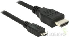 Zwarte DeLOCK kabeladapters/verloopstukjes Cable MHL 3.0 male <gt/> High Speed HDMI-A male 4K 5 m