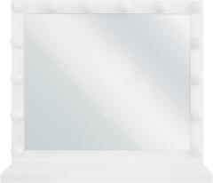 Witte Beliani Badkamerspiegel met LED-verlichting BEAUVOIR