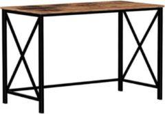 MIRA home MIRA Bureau - Computertafel - Hout - Metaal - Industrieel - Vintage - Bruin/zwart - 115x60x76