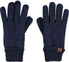 Sarlini Navyblauwe gebreide handschoenen voor kinderen - One size - Warme fleece voering handschoenen voor jongens/meisjes