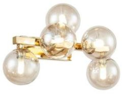 Goudkleurige Maytoni - Wandlamp Dallas Amber 23 cm