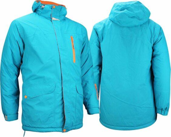 Afbeelding van Starling Ski/Snowboardjas - Heren - Aqua/Grijs/Oranje - S