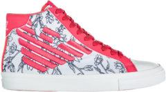 Rosa Emporio Armani EA7 Scarpe sneakers alte donna pride jacquard