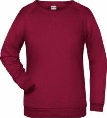 Donkerrode James & Nicholson James And Nicholson Dames/dames Basic Sweatshirt (Wijn)