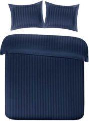 Marineblauwe Papillon Uni Satijn - Dekbedovertrek - Eenpersoons - 140x200/220 cm + 1 kussensloop 60x70 cm - Navy