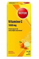 Roter Vitamine C Bruistabletten Ascorbinezuur Abrikoos-sinaasappelsmaak