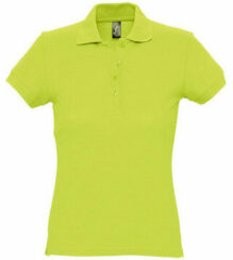 Groene Polo Shirt Korte Mouw Sols PASSION WOMEN COLORS