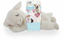 All For Paws Little Buddy Heart Beat Sheep - Hondenspeelgoed - 44x38x14 cm Wit