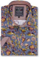 Gentile Bellini Heren Overhemd - Slim Fit - Beachlife Shells - Grijs - Maat S
