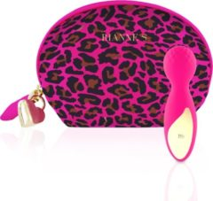 Rianne S RS Essentials Lovely Leopard Mini Wand Vibrator - Roze
