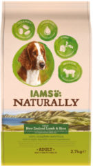 Iams Naturally Dog Adult New Sealand Lam&Rijst 2,7 kg