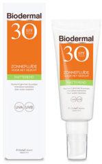 Biodermal Zon - Zonnebrand - Matterende Zonnefluïde voor het gezicht - SPF 30 - 40ml