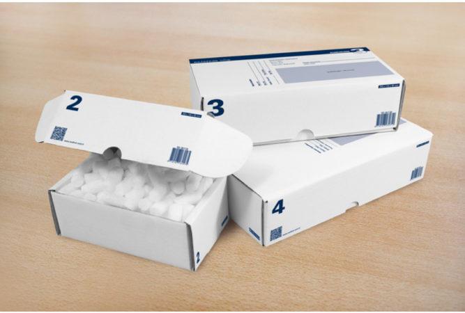 Afbeelding van Postpakketdoos 5 Raadhuis 430x300x90mm bedrukt 5 stuks