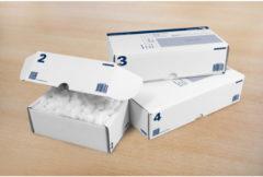 Postpakketdoos 5 Raadhuis 430x300x90mm bedrukt 5 stuks