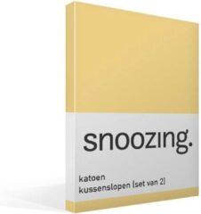 Snoozing - Katoen - Kussenslopen - Set van 2 - 50x70 cm - Geel