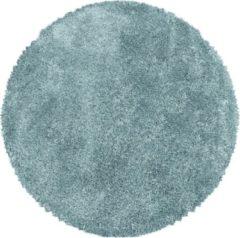 Impression Himalaya Pearl Soft Rond Shaggy Hoogpolig Vloerkleed Blauw - 160 CM ROND