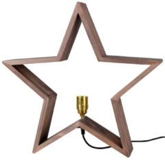 STAR TRADING Beleuchteter Holzstern