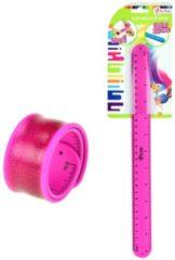 Toitoys Toi-toys Klaparmband Liniaal Roze 30 Cm