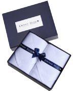 Witte Zakdoeken wit jacquard Derek Rose