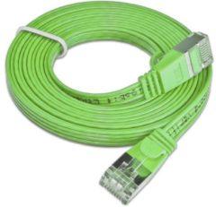 Slim Wirewin PKW-STP-SLIM-KAT6 1.0 GN RJ45 Netwerk Aansluitkabel CAT 6 U/FTP 1.00 m Groen Plat