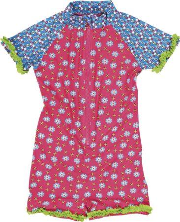 Afbeelding van Roze Playshoes UV Playshoes - UV zwempak met korte mouwen meisjes en jongens - Bloem - maat 74-80cm