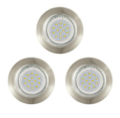 EGLO Peneto - Inbouwspotje - LED - Ø78mm. - Brons - Set 3 Spots