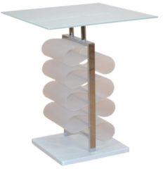 Möbel direkt online Moebel direkt online Beistelltisch Glastisch Tisch mit Zeitungstaschen In 2 Farben lieferbar