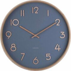 Karlsson Wandklokken Wall clock Pure medium w. dial Blauw