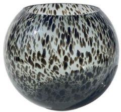 Zwarte Vase The World Black Cheetah vaas Zambezi | Ø20,5 x H25 cm