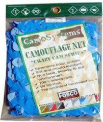 Fosco Industries Blauw camouflage net 3 x 2,4 meter