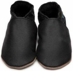Zwarte Inch Blue babyslofjes plain black maat 4XL (19 cm)