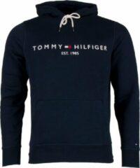 Donkerblauwe Tommy Hilfiger Tommy Logo Hoody Sporttrui - Maat M - Mannen - donker blauw