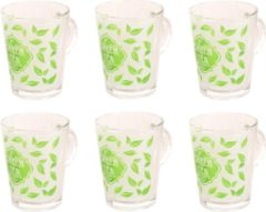 Jack Cook Theeglas Tiffany 36 cl - Hardglas Transparant Groen 6 stuk(s)