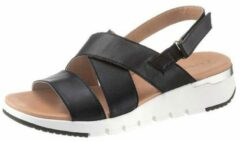 Zwarte Caprice sandalen met antislip-rubber-loopzool