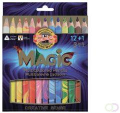 Kleurpotloden Koi-i-Noor Jumbo Magic doos 13 kleuren