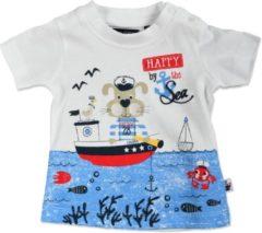 Blue Seven Jongens T-shirt - wit - Maat 56