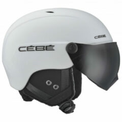 Witte Cébé Contest Vision Skihelm met vizier - 2019 | Matte White | Grey Ultra Black Cat.3 Maat: 54 - 56 cm - Small (S)